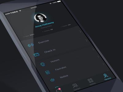 persona page of A app concept design
