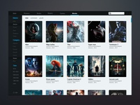 Movie-management interface design