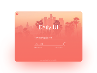 Daily UI #001 Sign In sign in ui daily ui