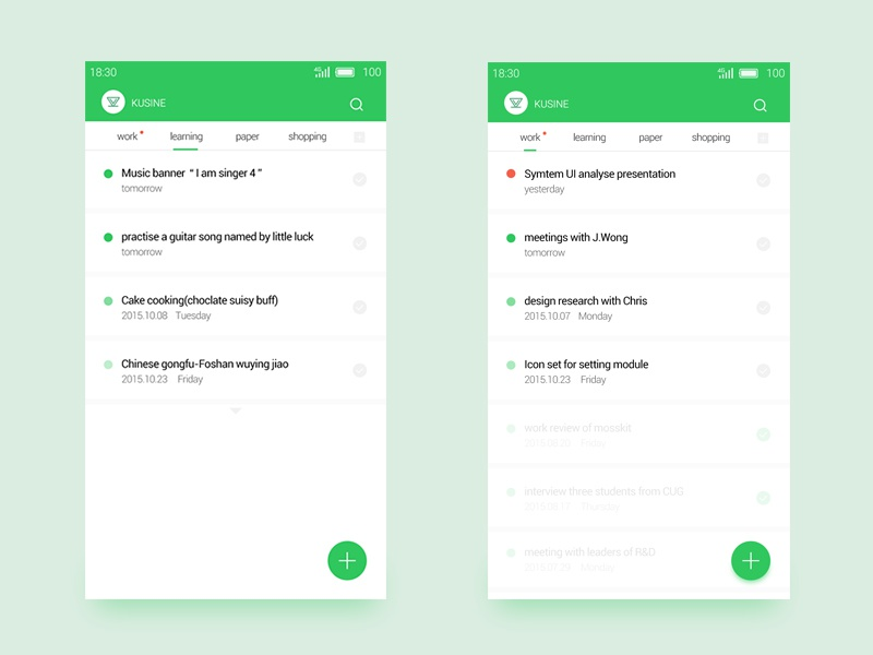 Daily UI job listing design list green ui daily ui daily