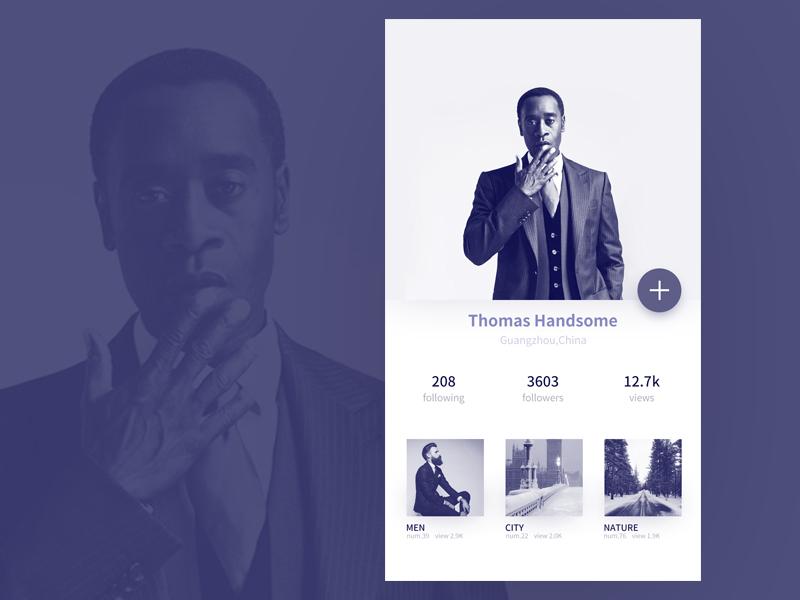 Daily UI user profile user profile man design ux ui daily dailyui