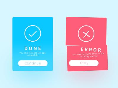 Daily UI Flash Message (Error/Success) blue error success flash message daily ui ui