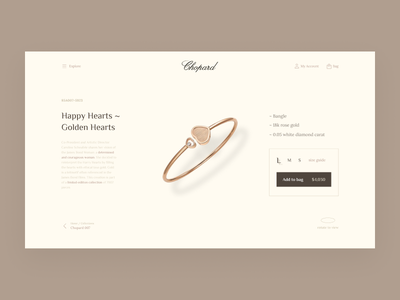 Jewelry store Product page product page ecommerce boutique website ui uidesign ux uxuidesign jewelry shop web webdesign fashion uxdesign jewelry store