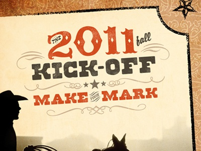 2011 Kick-Off Event: Make Your Mark – Logo event logo wild west western typography