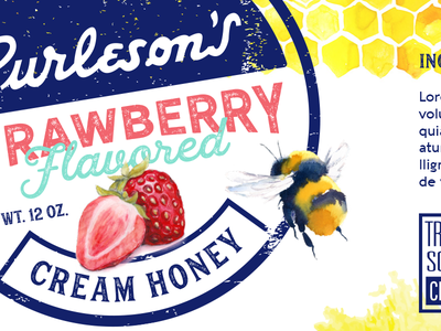 Packaging Design Concept retail bee strawberry cream honey honey design packaging