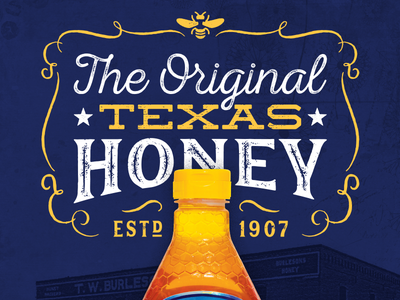 Texas Heritage Ad ad print beekeeping ornament bee honey typography texas