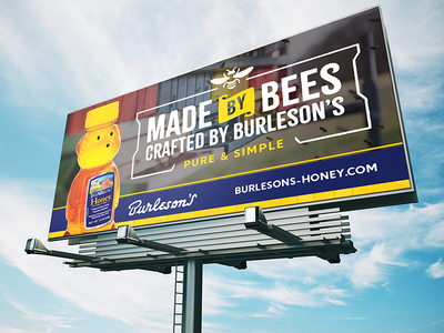 Heritage Brand Billboard (WIP) billboard ooh beekeeping ornament bee honey typography