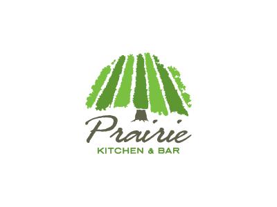 Prairie Kitchen & Bar – Logo Exploration (Revised) agriculture farming tree lounge bar kitchen prairie identity logo