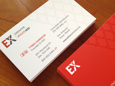 Executive athlete business cards by juanbarrera dribbble exacards reheart Choice Image