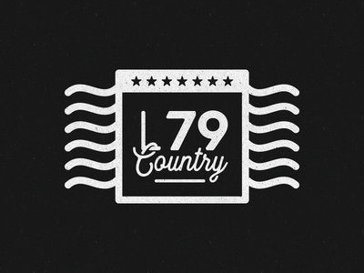 L79 Country stamp selfpromo vector design illustration branding logo legacy79