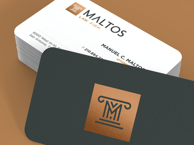 Maltos Brand Development law firm collumn law attourney brand stationery business card logo