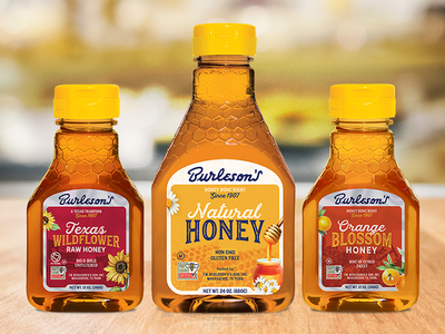 Honey Packaging Redesign typography branding legacy79 honey retail cpg packaging