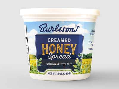 Realignment for Honey Spread Tub legacy79 retail packaging package design cpg typography honey