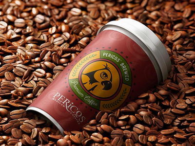 Perico's Coffe Cup coffee parrot packaging