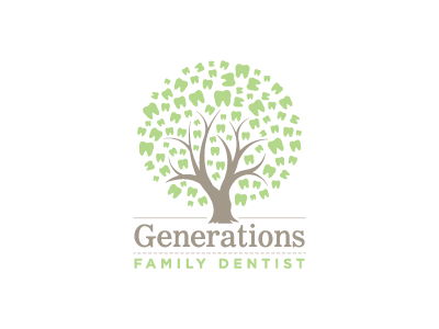 Dentist Logo Exploration (2nd option) dentist dental dentistry generations family teeth tooth unity tree roots legacy79