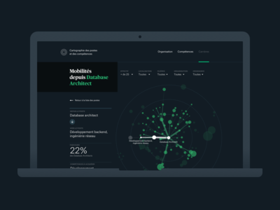 HR decision support tool website viz human ressources data visualisation data web design