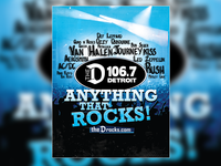 Anything That Rocks! 106.7 The D Magazine Ad