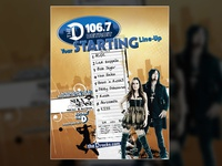 106.7 The D & Sixx Sense Magazine Ad