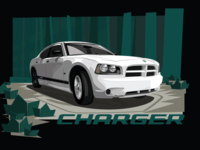 2008 Dodge Charger Illustration