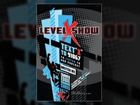 """Level X Show"" Podcast Poster"