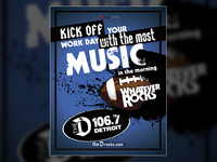 """Whatever Rocks"" Detroit Lions Ad for 106.7 The D"