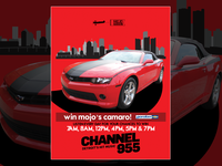 Mojo in the Morning & Channel 955 print ad