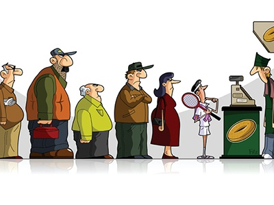 waiting in line by brad fitzpatrick dribbble dribbble