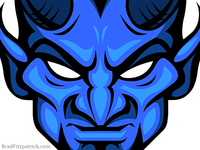 Blue Devil Head - Blue Devils Logo