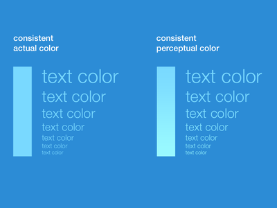Consistent Colors for Varying Sized Objects