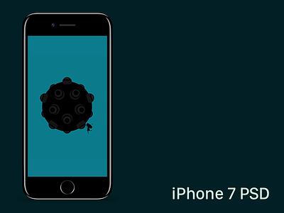 iPhone 7 PSD jet black template iphone iphone 7 psd