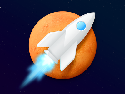 MarsEdit Mac App Icon mars rocket app icon mac app icon