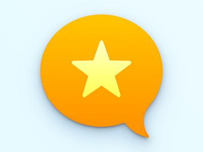 Micro.blog talk bubble star app icon mac app icon