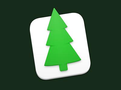 Evergreen Mac Icon evergreen tree icon mac