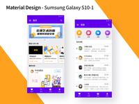 IOS Material Design - Sumsung Galaxy S10-1 flat art design brand branding icon app ux ui