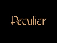 Peculier black gold logotype logo letters type branding lettering typography