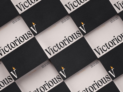Victorious logotype letters logo type color design lettering branding focus lab typography