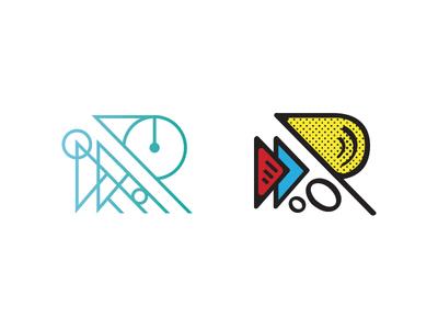 Engineering & Art school art engineering pop art tutoring education focus lab r letter logo branding typography