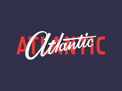 Atlantic focus lab type display restaurant atlantic branding brush lettering lettering typography