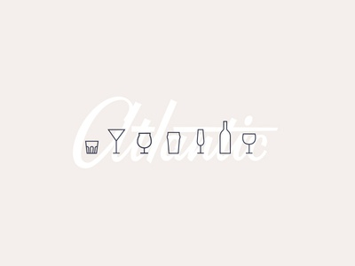 Get Your Drank On cocktails sparkling beer wine typography focus lab atlantic lettering design icons
