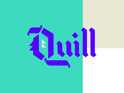 Quill Pt. II blackletter letters typography quill q focus lab design color