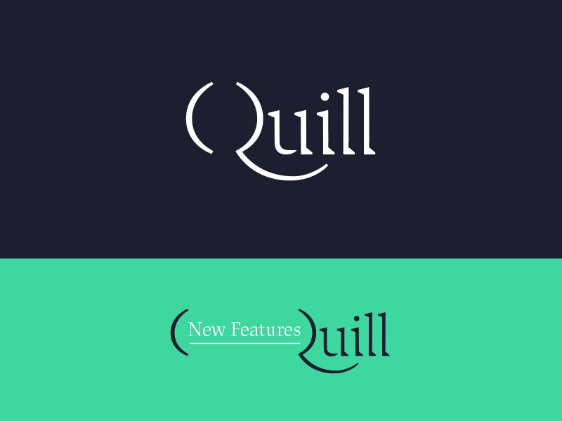 Quill Pt. III branding typography quill q serif letters focus lab design color