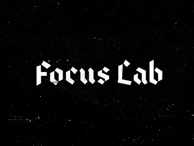 Metal Lab sidecar gothic white black textures focus lab blackletter