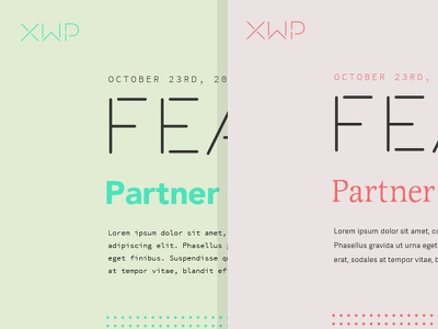 XWP Typography typography focus lab color patchwork quilts stitching logotype branding xwp