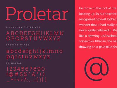 Proletar Release type design typography serif slab sidecar proletar font typeface