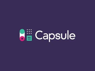 Capsule control panel color mark typography capsule focus lab branding