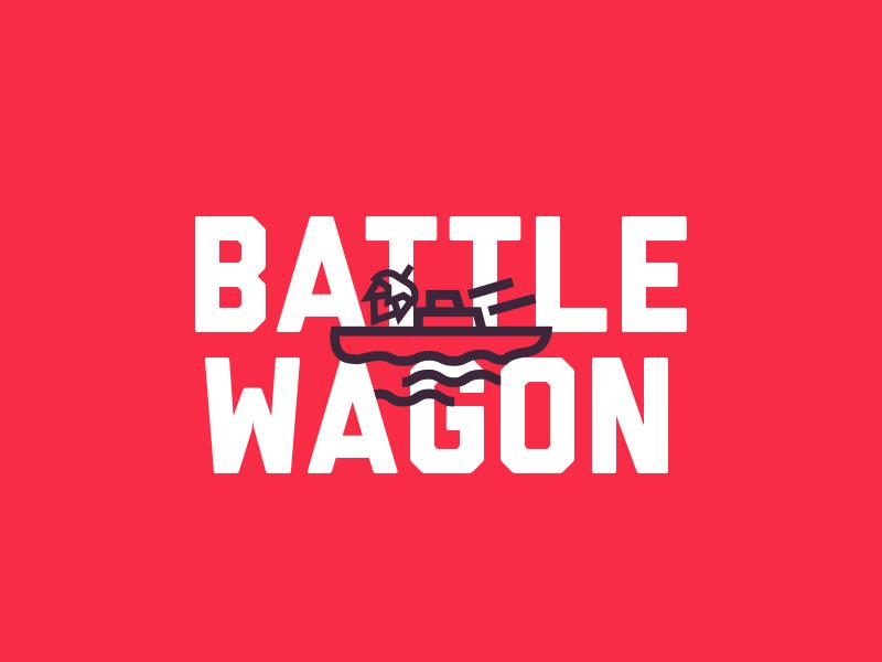 Battlewagon thick lines focus lab branding service brewing battlewagon ipa hops beer