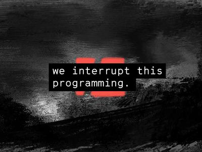 We interrupt this programming. red static focus lab mark branding