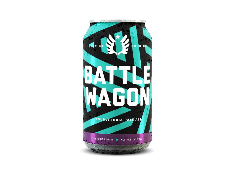 Battlewagon Dazzle can lines pattern dipa beer focus lab service brewing camo dazzle