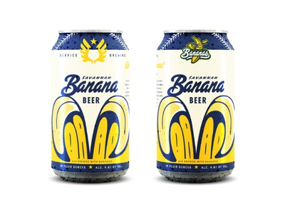 Go Bananas! ale focus lab branding service brewing savannah bananas baseball beer