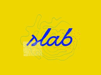 Slab branding focus lab script drawing pencil celebration logotype typography slab